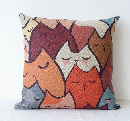 Creative pillow sleep cat cute Korean IKEA sofa pillow pillow cushion and home furnishing decoration. on Etsy, $16.80