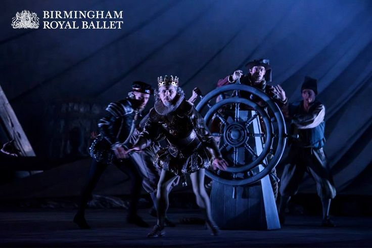 Michael O'Hare as Alonso, the King of Naples, with Artists of Birmingham Royal Ballet as Mariners