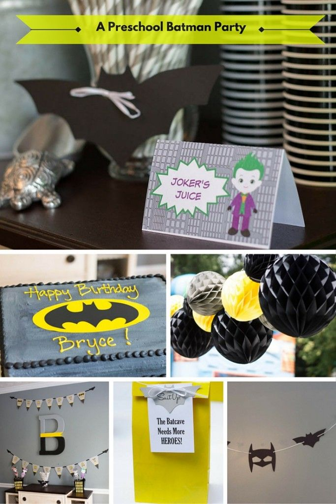 Here are some wonderful ideas to help you plan your batman birthday party! Centerpieces, food tents, favor bags, all types of decorations!