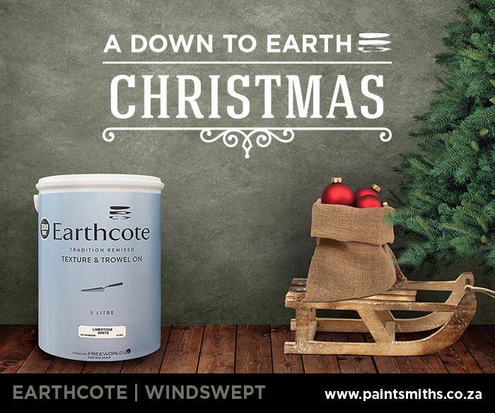 Enjoy a 'down to earth' Christmas with PaintSmiths. Paint your interior/exterior with Earthcote Windswept  -  a soft paint finish reminiscent of traditional limewash. #Earthcote_WindSwept #Paintsmiths #ChristmasDecor #wallpaint