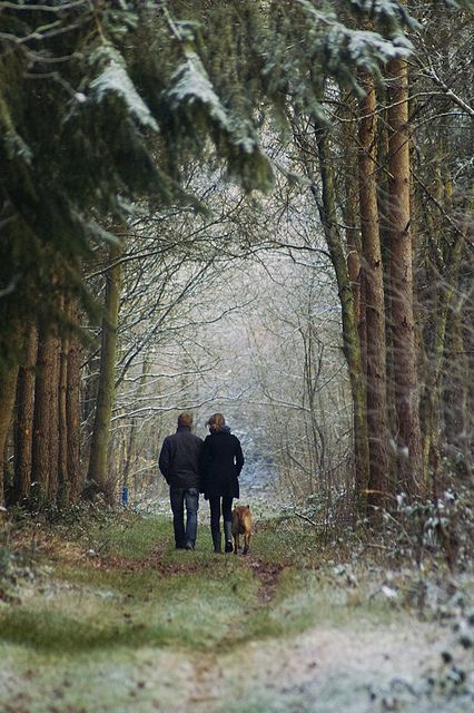 potentialitea: elorablue: winter walk with the dog by serni on Flickr. You, me and the dog. - British Country Clothing offer a range of quality British made clothing ideal for country walks