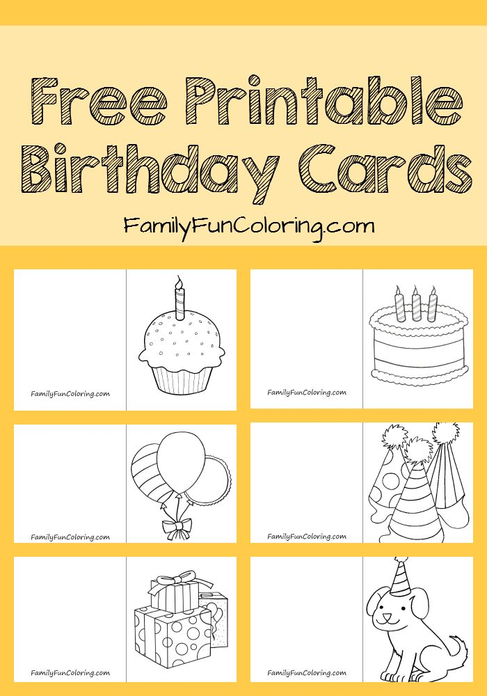 Birthday Cards Printable L Dessincoloriage – Birthday Cards to Print and Color