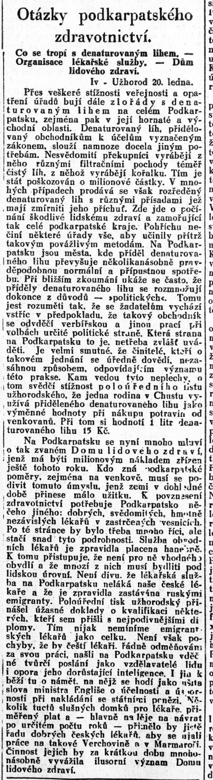 Lidové noviny, 22.1.1930