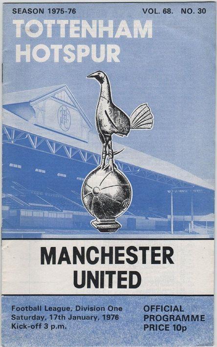 Vintage Football Programme - Tottenham Hotspur v Manchester United, 1975/76 season, by DakotabooVintage, £3.99