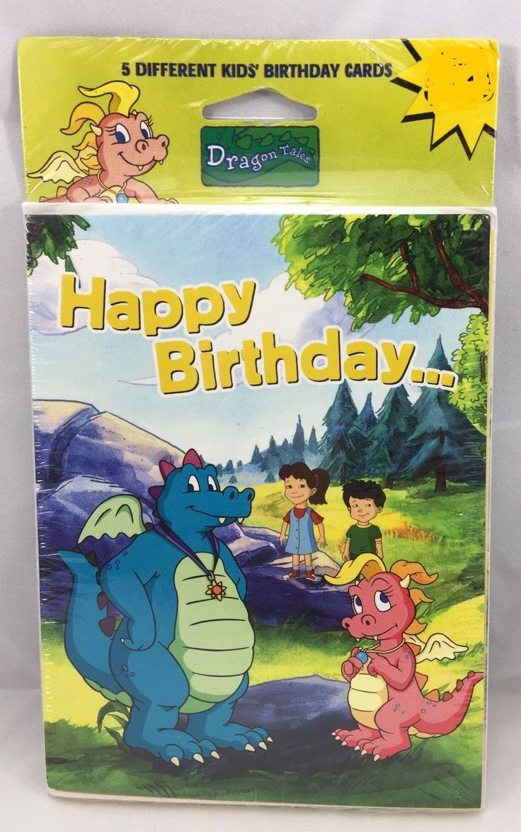 48 best greeting cards and stationery images on pinterest gift american greetings dragon tales happy birthday cards 5 different cards nos collectibles paper kristyandbryce Choice Image