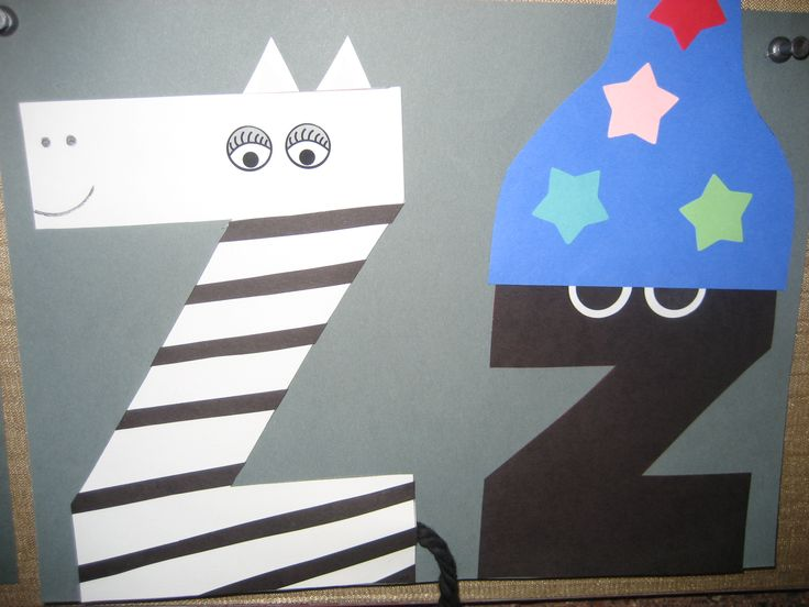 """Zz"" Letter of the week art project"