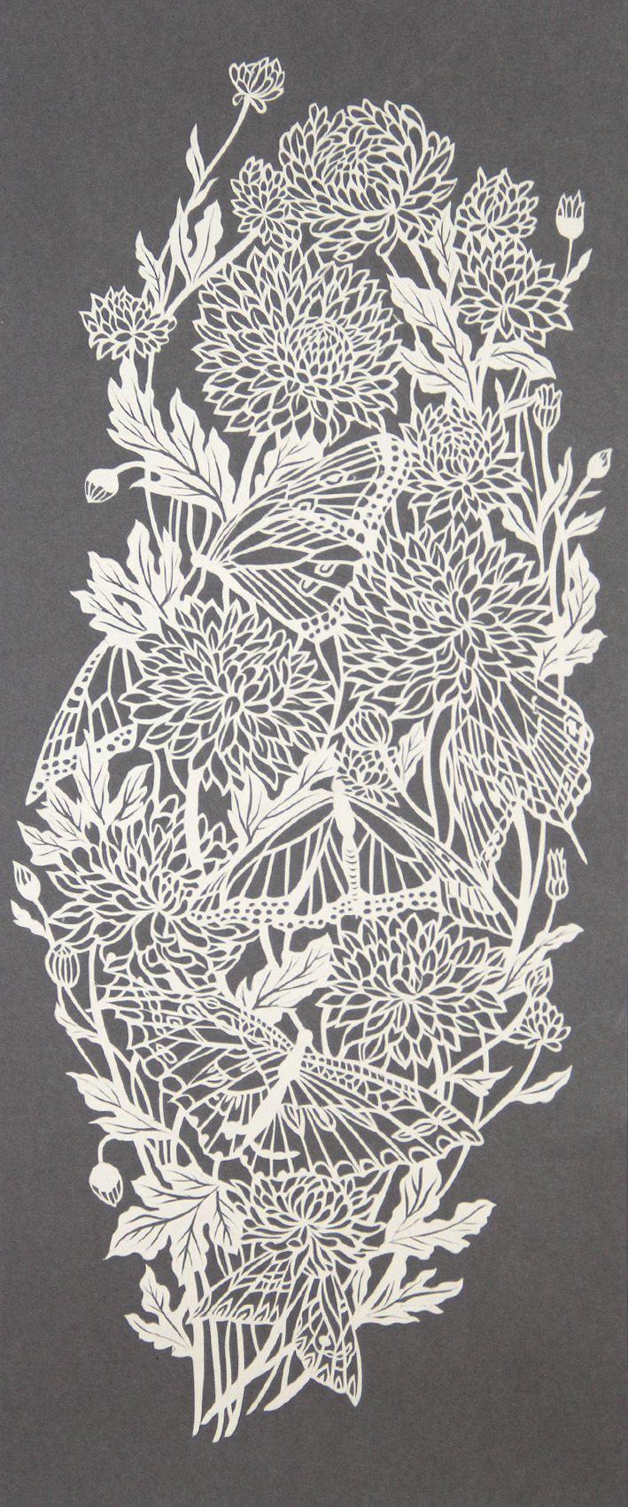 #chrysanthemums papercut                                                                                                                                                      More