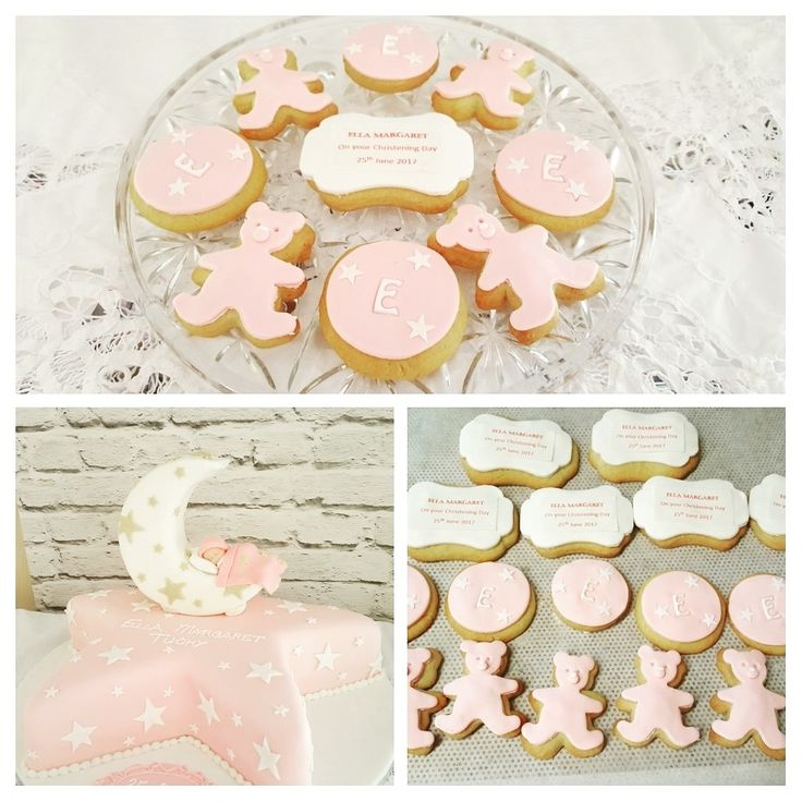 Star shaped Christening cake with delicious vanilla handmade biscuits. #christening #Cannaboe #christeningcookies