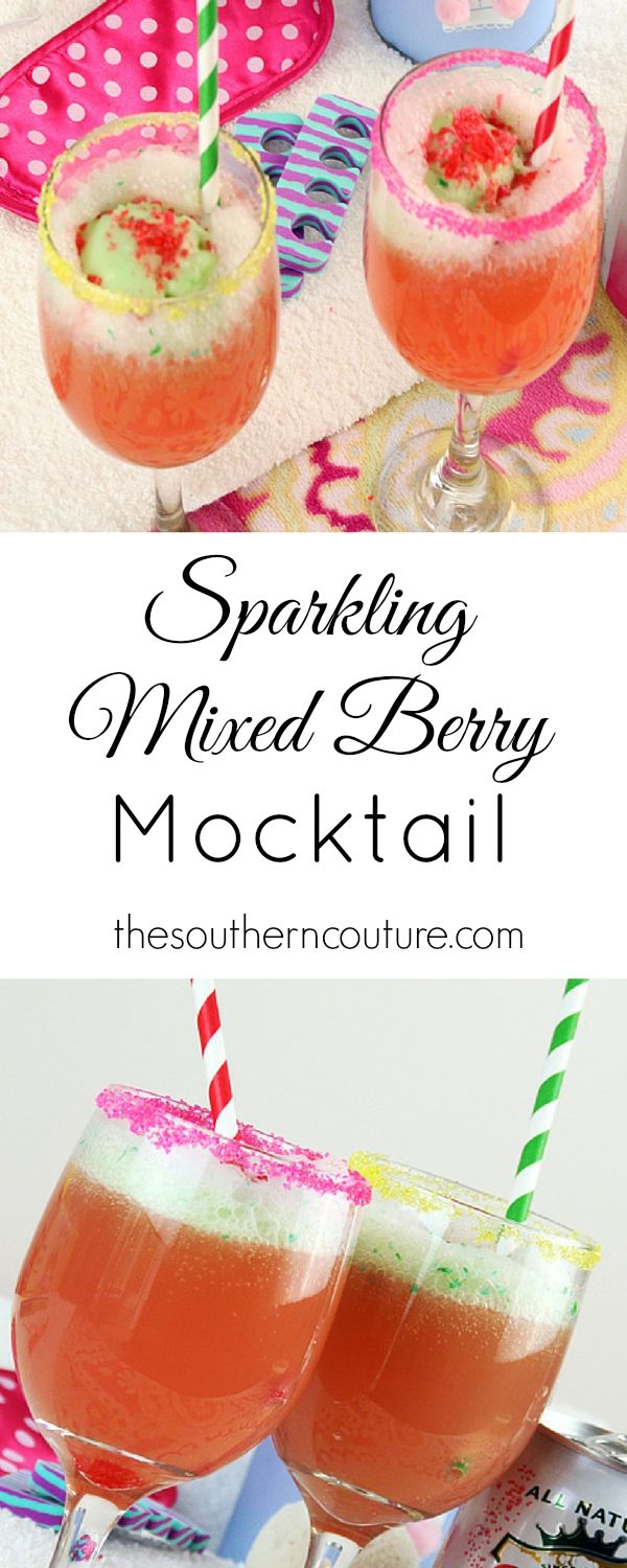 Your girl's night is now complete with a spa party. Get a recipe for a sparkling mixed berry mocktail to make the night complete at thesoutherncouture.com.