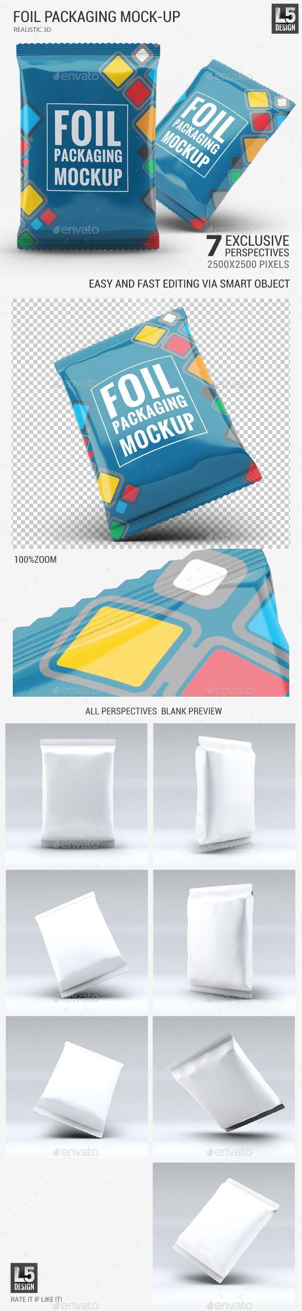 Foil Packaging Mock-Up #design Download: http://graphicriver.net/item/foil-packaging-mockup/11625656?ref=ksioks