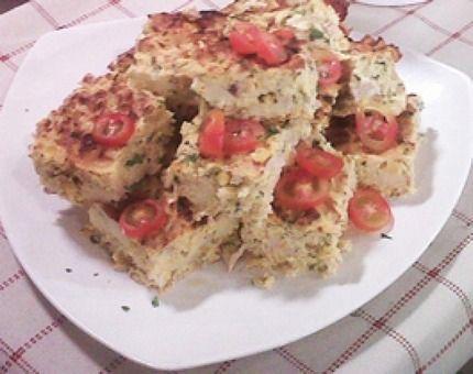 Cuadraditos de pollo, choclo y queso