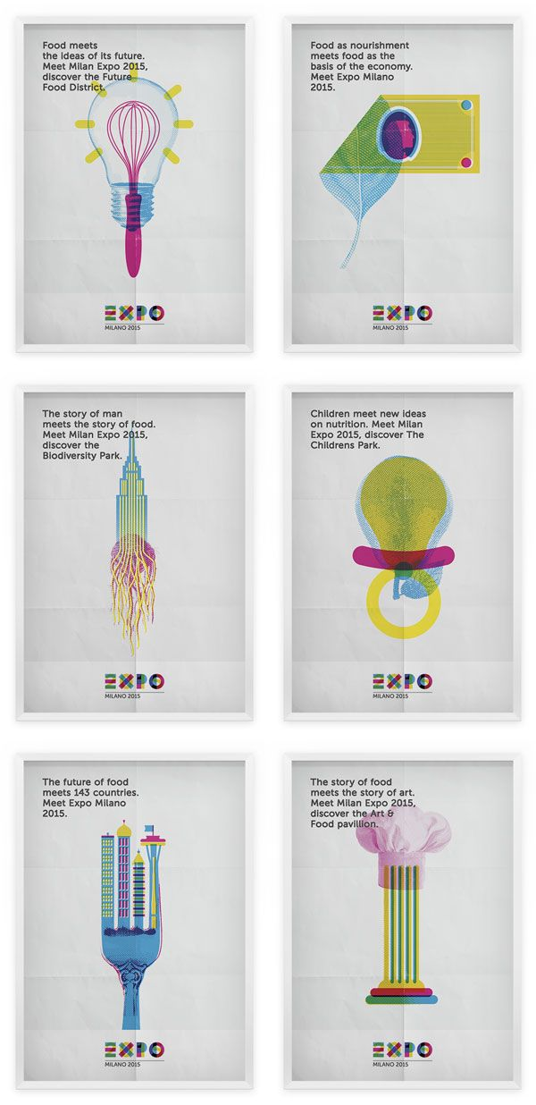 Expo Milano 2015 - global campaign poster design proposals.