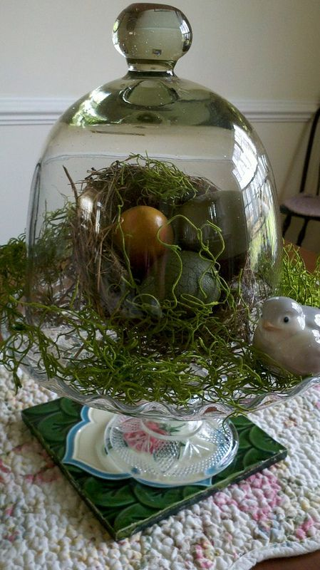 Spring Decorating with cloches