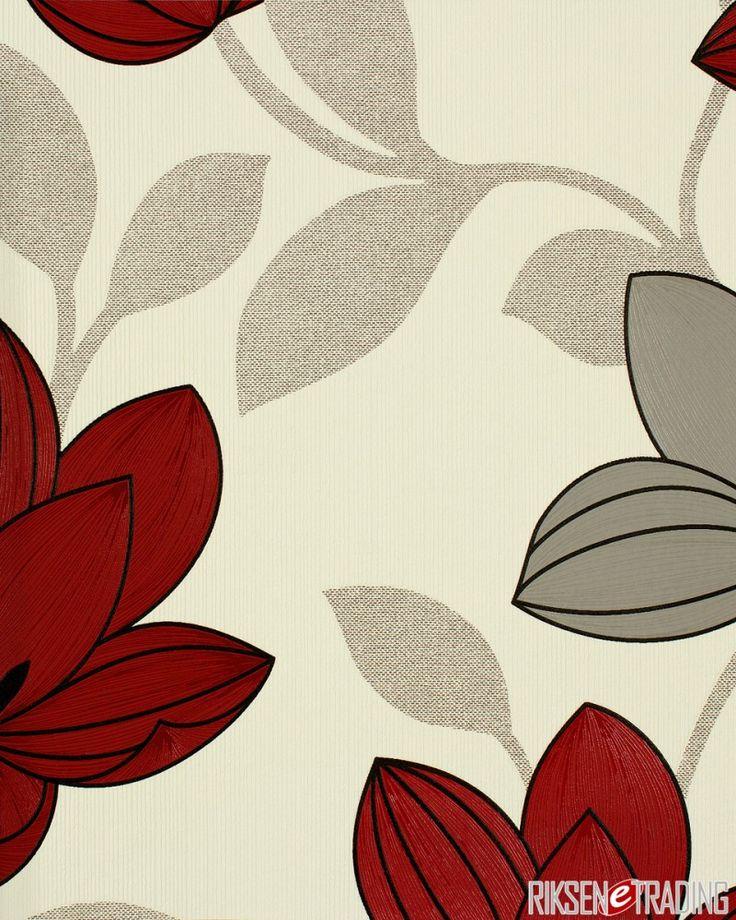 Tapete Beige Wei? Gepunktet : Tapete Rot auf Pinterest Design Tapeten, Tapete Wei? und Tapete