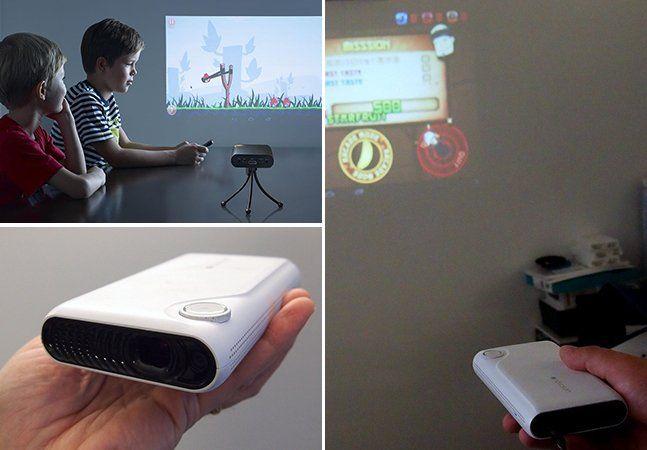 Apresentado pela Touchjet na CES deste ano, o TouchPico é um dispositivo Android com wi-fi que projeta imagens transformando qualquer superfície plana em uma tela interativa. Para que isso aconteça, o que o aparelho faz éprojetar uma tela de 80 polegadas em qualquer parede que você aponte. O TouchPico vem com uma caneta stylus com a ponta clicky que serve como toque do dispositivo. Funciona assim: quando você encosta a caneta na parede, é enviado um sinal infravermelho para o projetor, que…
