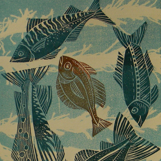 7 best images about fish lino prints on pinterest over for Big fish printing