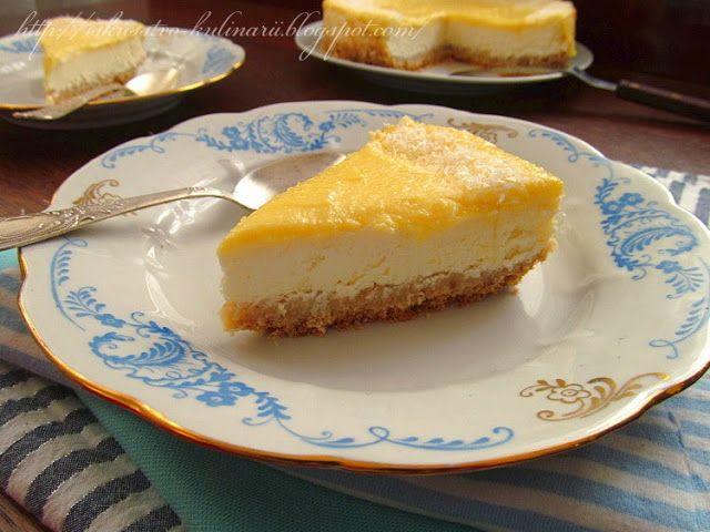 Постигая искусство кулинарии... : Кокосовый чизкейк с цитрусовой помадкой (Coconut cheesecake with citrus glaze)
