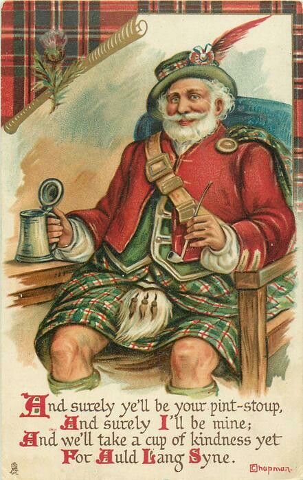 быту рождественские открытки шотландии стали обязательным