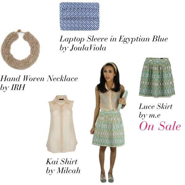 Luce Skirt - LAAVAA, created by laavaa on Polyvore - Get 20% off only on LAAVAA.com until Sunday May 20!