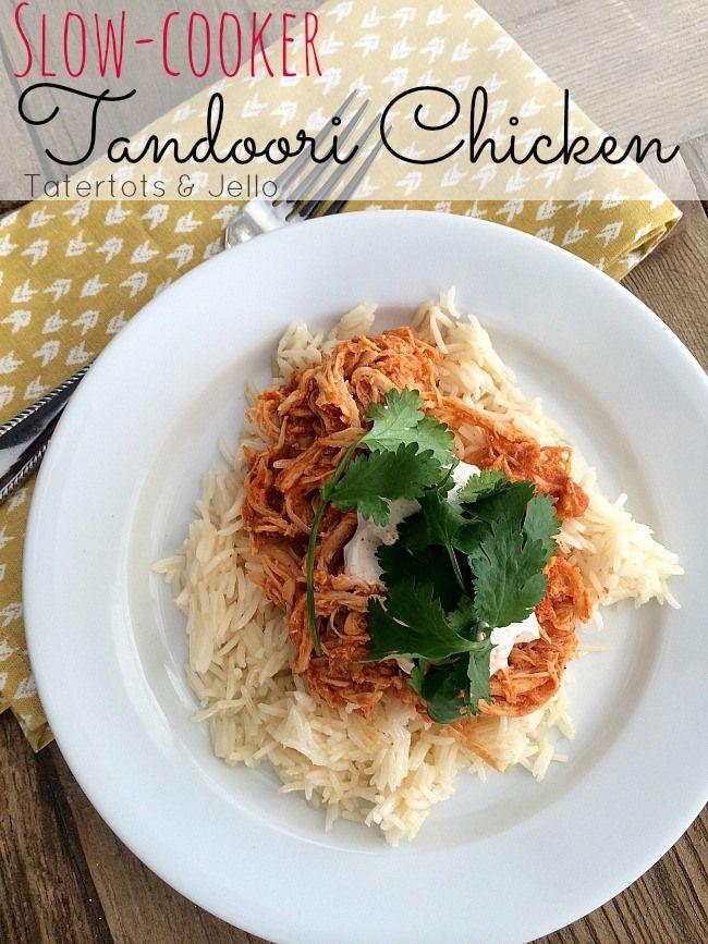 Slow Cooker Chicken Tandoori Recipe-- Tatertots and Jello #slowcooker #recipe #crockpot