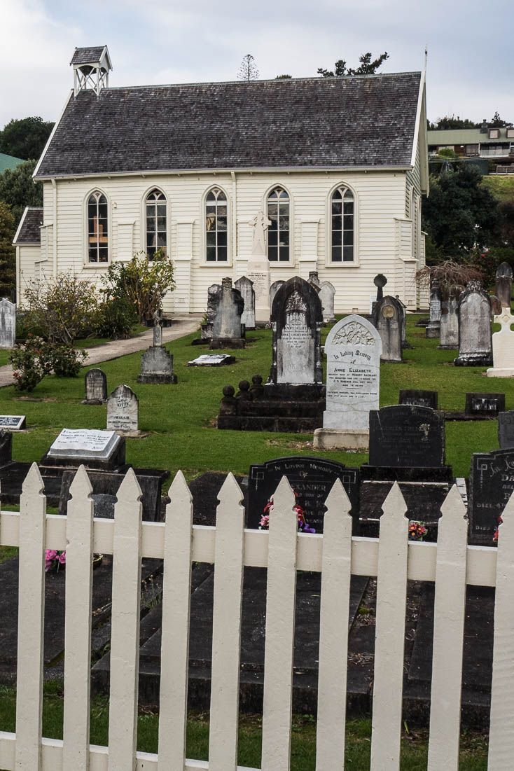Christ Church in Russell is New Zealand's Oldest Church established in 1836 - has a few musket holes.