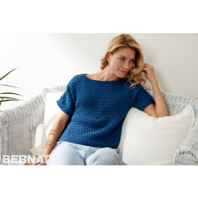 Knitting Patterns Galore - Textured Tee Knit Pullover