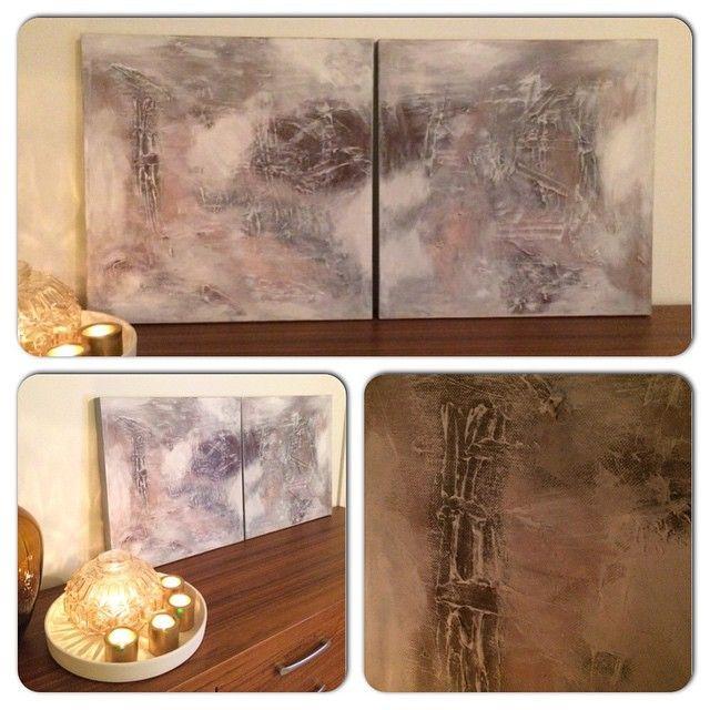2 x 50x50 på tykk treramme  #lerret #maleri #malerier #akrylmaling #canvas #kunst #paint #paintings #acryl #acrylic #artwork #abstract