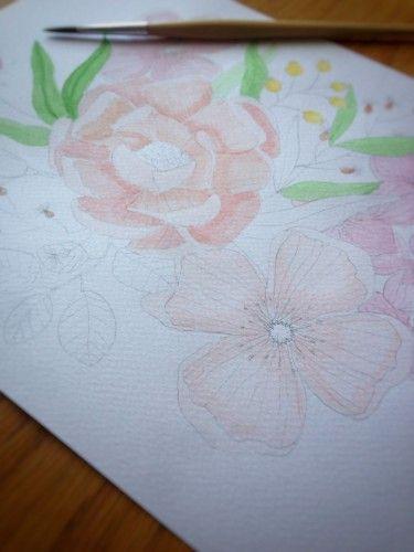 Watercolour session