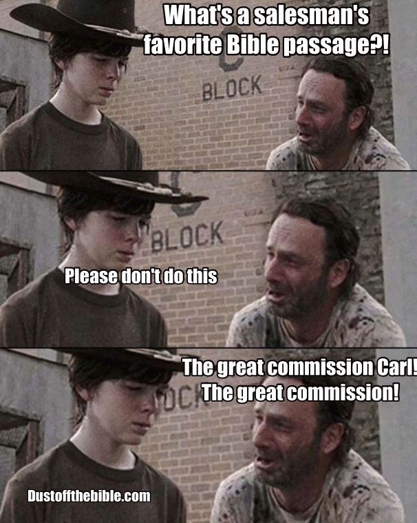 Carl Walking Dead Christian Meme Great Commission  #Christian meme #church #Christianmeme #meme #Carl #walkingdead