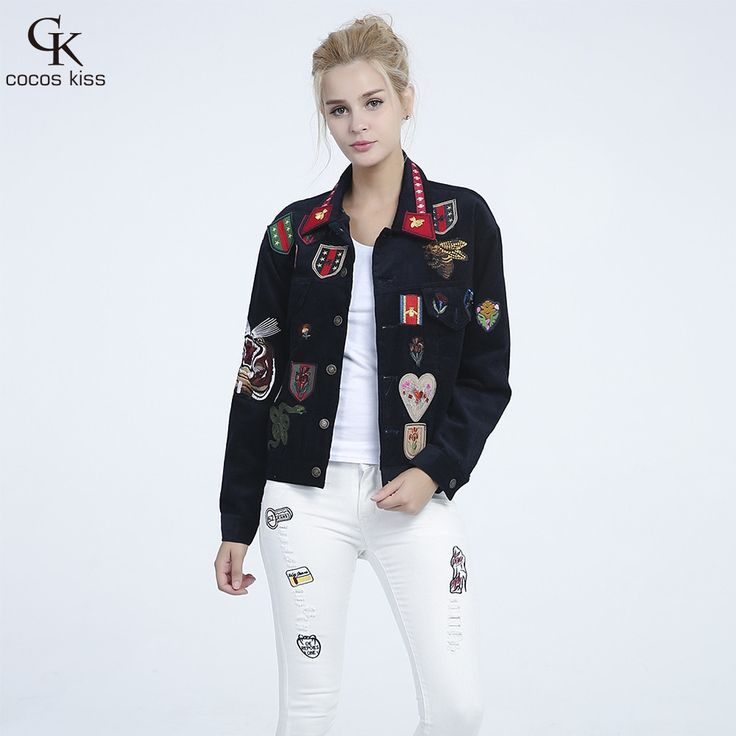 Women Embroidered Bomber Jacket tiger The badge handsome Jacket Autumn and winter Fashion collocation