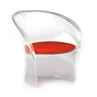 Flower - structure cristal - coussin rouge