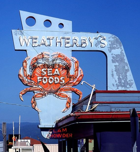 Neon Sign Weatherby's Seafood by SignsAcrossAmerica on Etsy