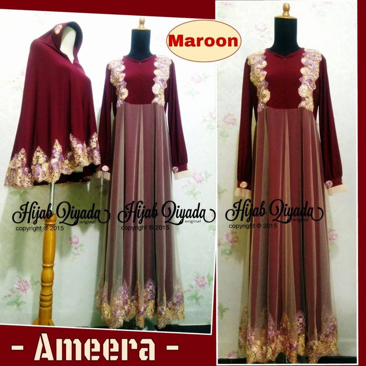 Code : Ameera Maroon Size : S M L XL size standart or you can request by your body size  Price : 495.000/set (size standart) dengan bergo standar size XL XXL + 50.000 XXXL +65.000 nambah size bergo tambah +15.000  sms/WA 085743779298 BB pin : 32934079  #maroon #beauty #elegant #gamis #hijabfashion