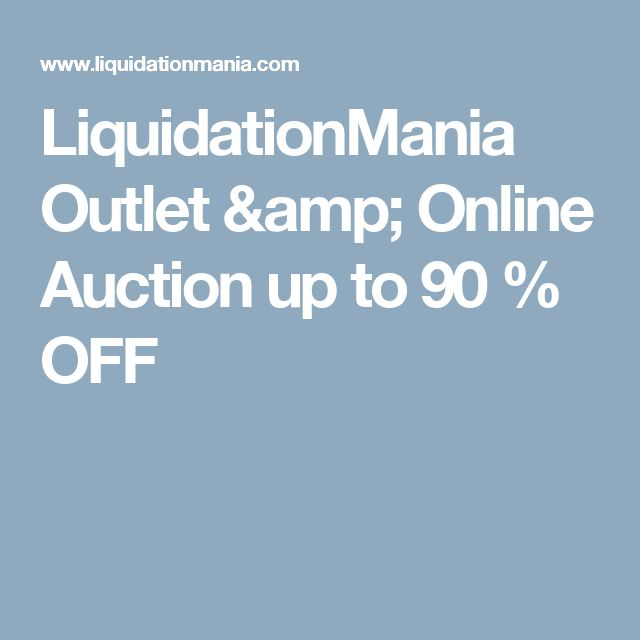 LiquidationMania Outlet & Online Auction up to 90 % OFF
