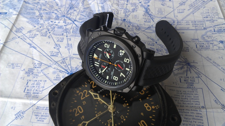The ZULU-05 Chronograph Aviator Wrist Watch..  www.trintec.com