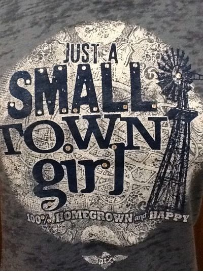 Just a Small Town girl......LOVE THIS PRINT!