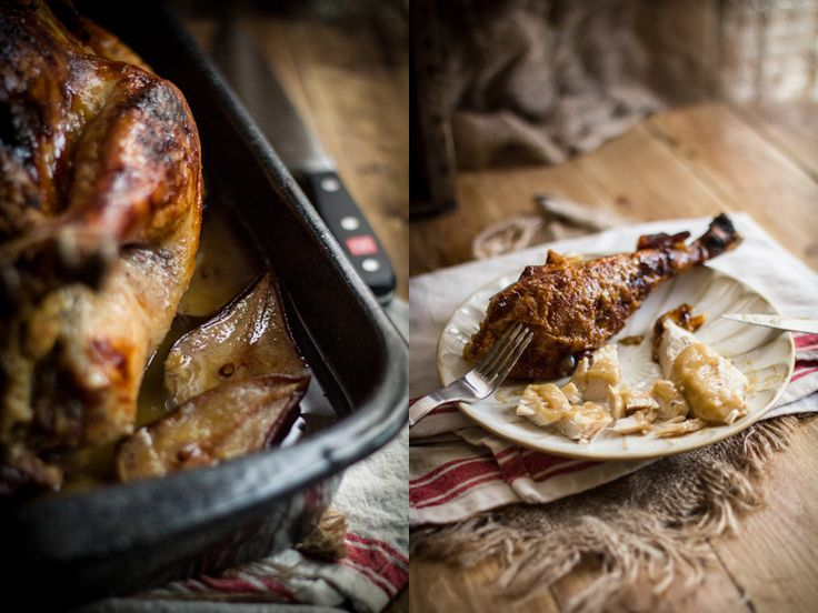 Roast Turkey with Pears & Sage