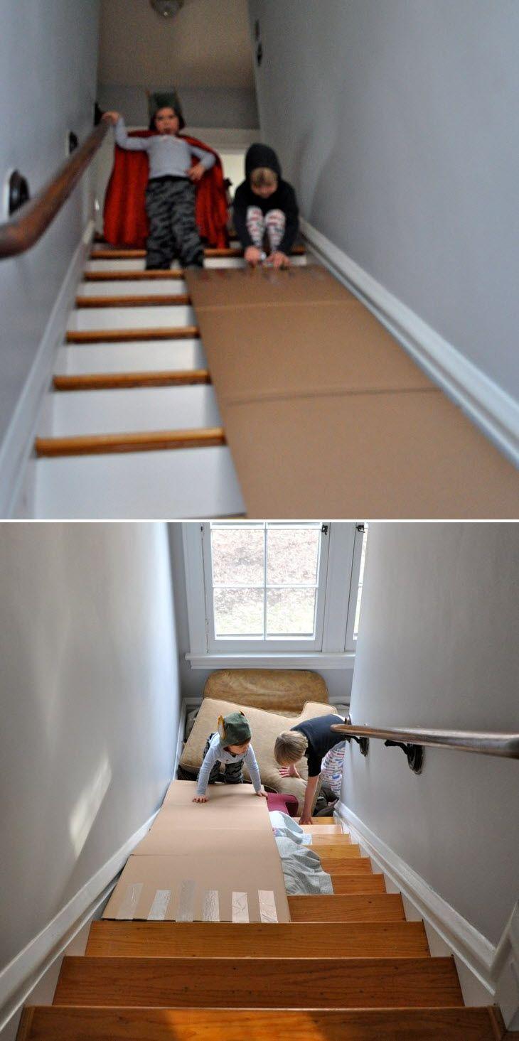 Les 25 meilleures id es de la cat gorie escalier toboggan for Decoration descente escalier interieur