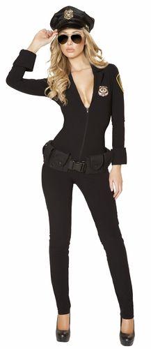 Sexy Law Enforcer Costume, 2014 Cop Costume, Cop Catsuit