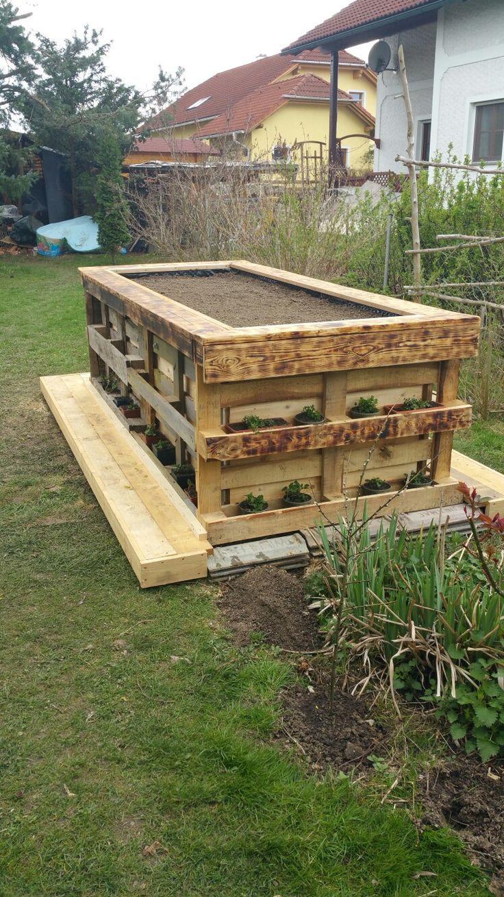 Mein Erstes Palettenhochbeet Erstes Europaletten Mein Palettenhochbeet Paletten Garten Hochbeet Aus Paletten Europaletten Garten