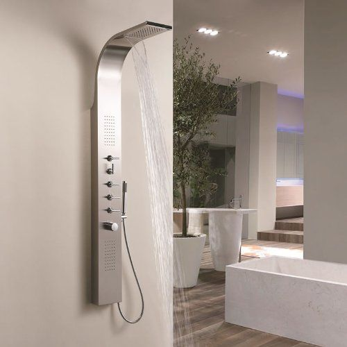 Trueshopping Stainless Steel Thermostatic Modern Bathroom Shower Tower Panel Column with Waterfall Head Body Jets No description (Barcode EAN = 5051752199622). http://www.comparestoreprices.co.uk/december-2016-6/trueshopping-stainless-steel-thermostatic-modern-bathroom-shower-tower-panel-column-with-waterfall-head-body-jets.asp