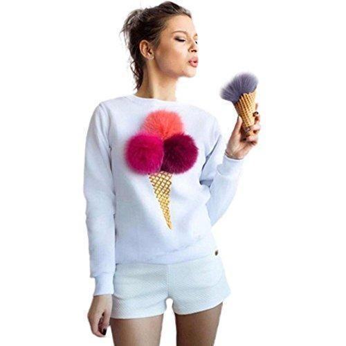Oferta: 7.19€. Comprar Ofertas de FEITONG la camiseta de las mujeres felpa de la bola Manga larga blusa ocasional suéteres de la camisa (XL, Blanco) barato. ¡Mira las ofertas!