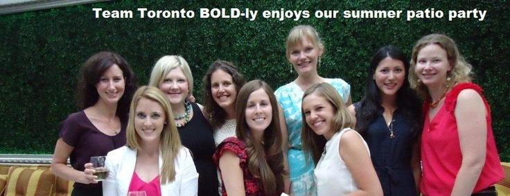 Team Toronto being BOLD this summer.