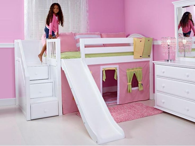 Cool Bunk Beds With Slides Low Loft Bed Slide And Staircase On End In Inspiration