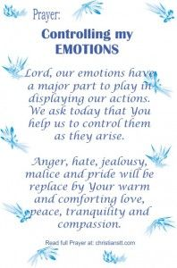 Prayer for Controlling my Emotions