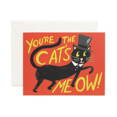Rifle Paper Co Single Card - You're the Cat's Meow Card   Pony Lane