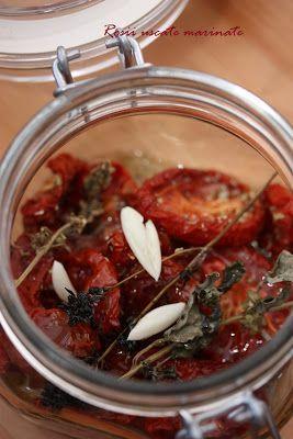 Rosii uscate in cuptor, marinate cu oregano si usturoi