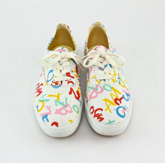 80s Print Keds Shoes