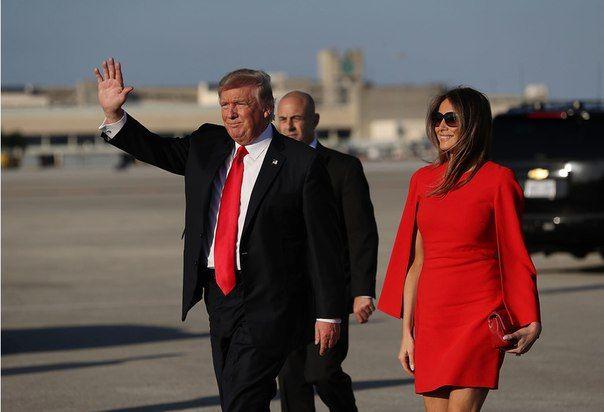 Первое совместное появление президента и первой леди США после инаугурации