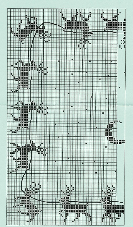 Christmas cross stitch reindeer - would be good on large-sized fabric for tablecloth